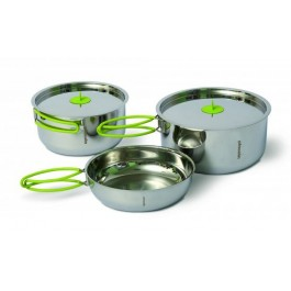 Set vase Pinguin Duo Steel L, vesela camping