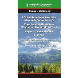 Zona Lacul Sfânta Ana, hartă turistică