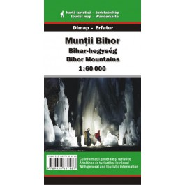Harta turistică şi rutieră a Munţilor Bihor