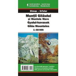 Harta turistică şi rutieră Muntii Gilăului şi muntele Mare