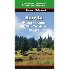 Munţii Harghita, hartă turistică