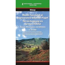 Hartă turistică Munţii Tarcăului şi Depresiunea Ghimeş-Făget