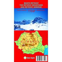 Hartă turistică Munţii Retezat – Bel Alpin