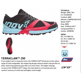 Inov-8 Terraclaw 250 Women's, pantofi alergare off road