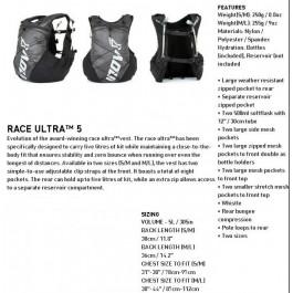 Inov-8 Race Ultra Vest 5, rucsac vesta cu sistem de hidratare