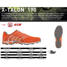 Inov  8 X - Talon 190, pantofi de alergat cross country.