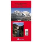 Harta turistică şi rutieră a Munţilor Bucegi