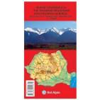 Munţii Făgărasului, hartă turistică – Bel Alpin