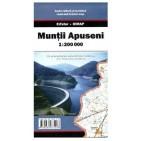 Muntii Apuseni, harta rutieră şi turistică