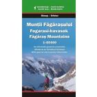 Munţii Făgăraşului, hartă turistică – Dimap / Erfatur