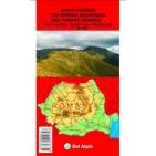 Harta turistica Muntii Parang-Bel Alpin