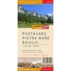Harta turistica Muntii Postavaru, Piatra mare, Baiului cu Track-uri GPS, colectia Muntii Nostri