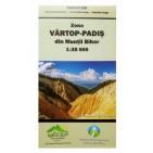 Harta turistica zona Vartop-Padis